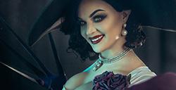 生化危机8吸血鬼贵妇COS  恐怖在性感面前一文不值