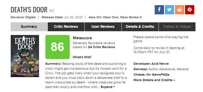 《死亡之门》首批媒体评分公开  IGN评分9分