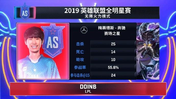 《英雄联盟》S9全明星无限火力 Doinb卡萨丁MVP四杀+抢龙