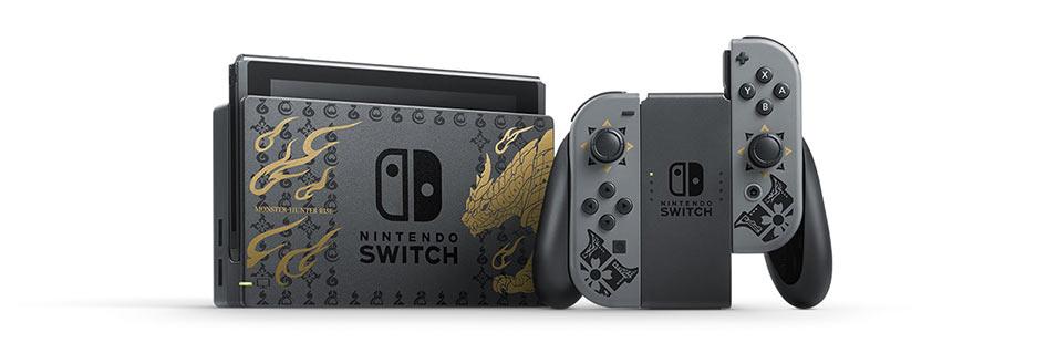 Switch《怪物猎人:崛起》限定款主机公布 外观精美