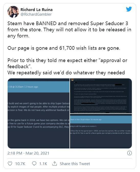 再也见不到了《超级情圣3》无法在Steam上发行
