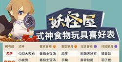 阴阳师妖怪屋式神喜欢哪些食物与家具  式神食物玩具喜好表