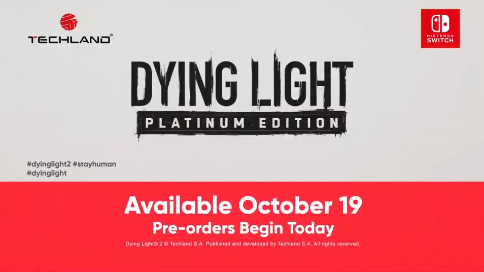 《消逝的光芒2》Switch云玩版宣传视频公布  1代白金版开放预购