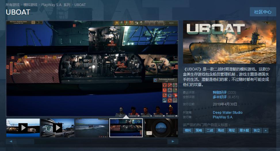 Steam今日特惠:《胡闹搬家》与《UBOAT》