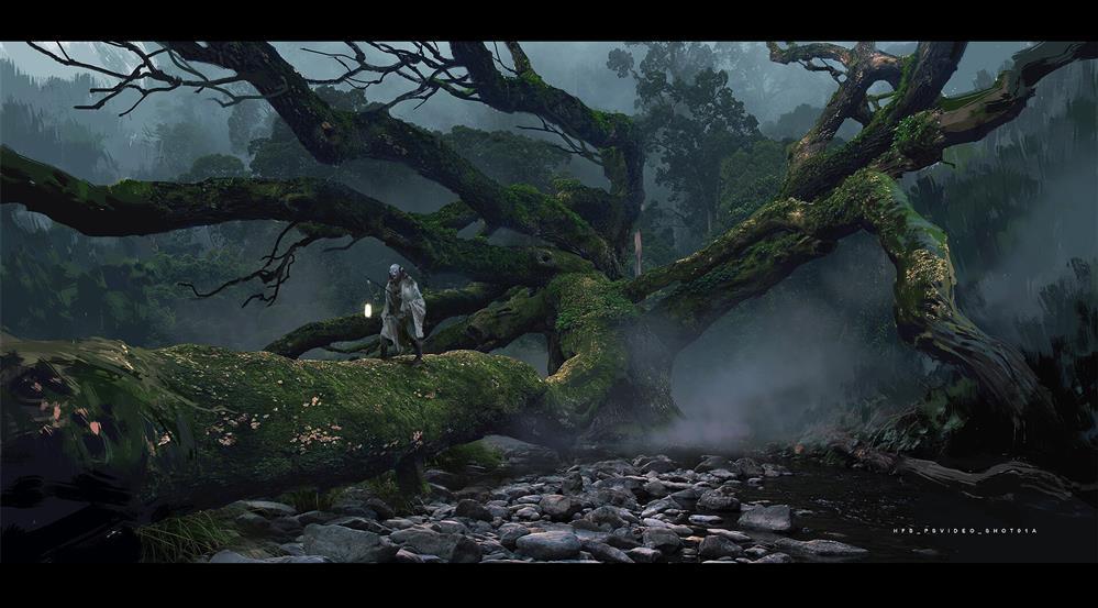《黑神话:悟空》游戏早期概念图公开_白龙及部分妖怪亮相