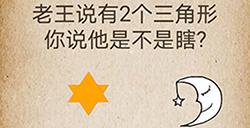 还有这种操作第55关攻略  老王说有2个三角形你说他是不是瞎