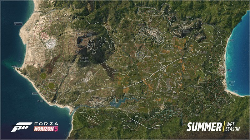 《极限竞速:地平线5》全地图公布 新截图分享