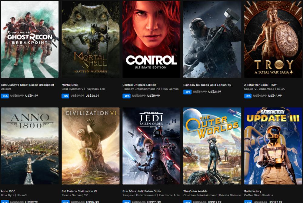继Steam开启秋季特卖后 Epic商城也开启黑五特卖活动