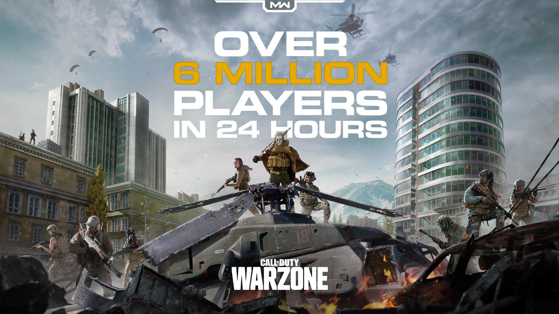 COD16吃雞模式《使命召喚:戰區》表現搶眼 玩家人數超600萬