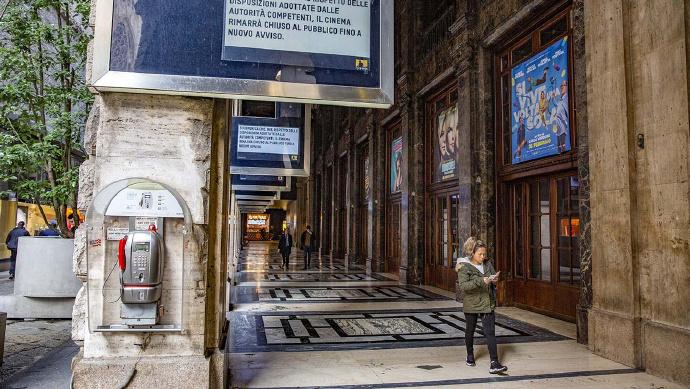 受新冠影响 意大利关闭约850家电影院