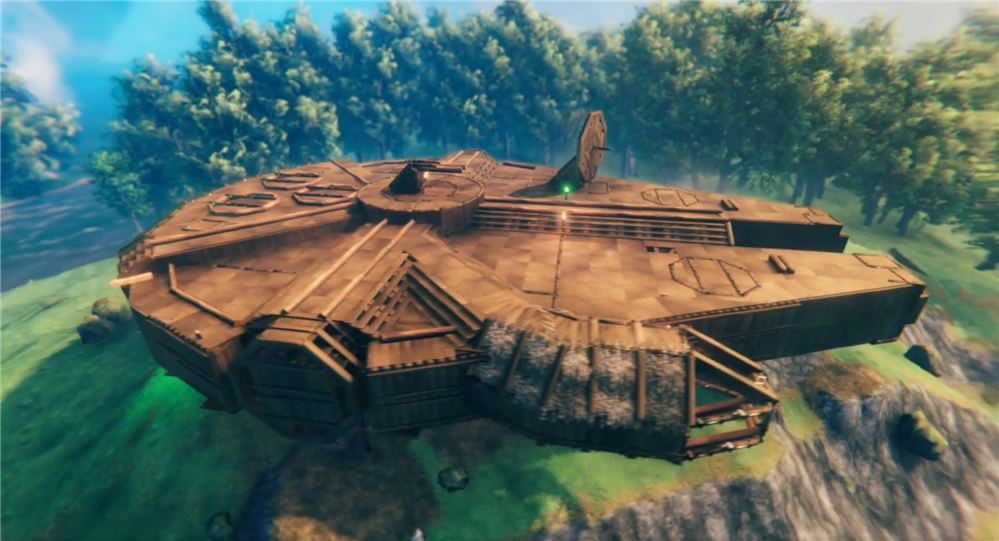 steam这款维京题材游戏火了,英灵神殿还能造飞船?