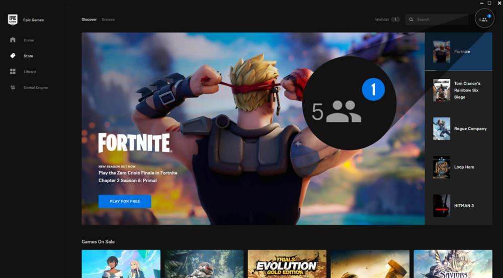 Epic游戏商城在三月内加入社交功能