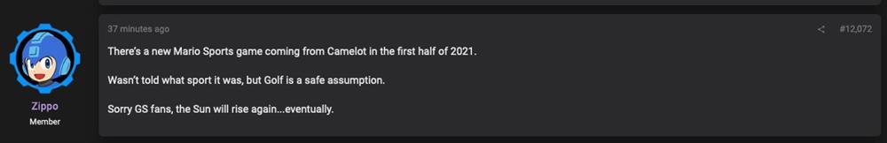 爆料:《马里奥》体育新作明年发布