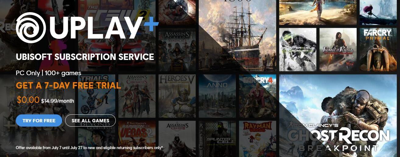 育碧Uplay+免费试用开启 活动即日起至7月27日