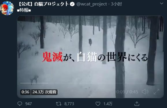 《白猫Project》×《鬼灭之刃》特别合作公开