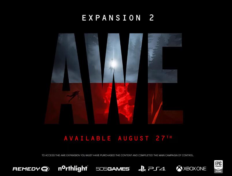 """《控制》第二波DLC """"AWE""""8月27日推出"""