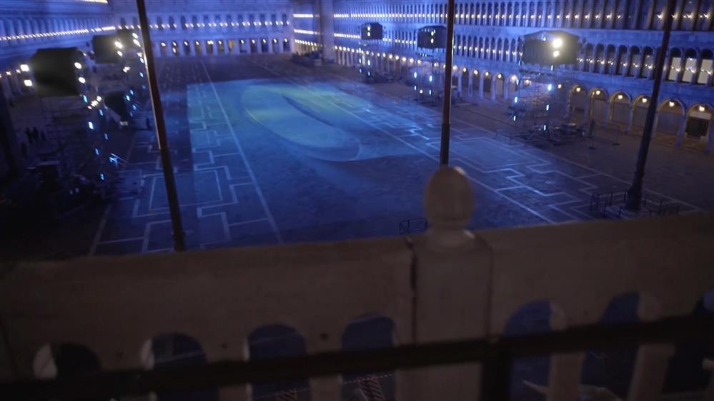 索尼在圣马可广场举办灯光秀