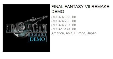 《最终幻想7:重制版》Demo试玩版即将推出