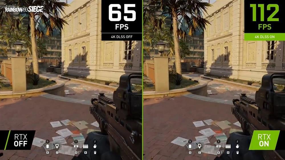 《彩虹六号:围攻》已正式支持DLSS 4K最高画质下帧数提升50%